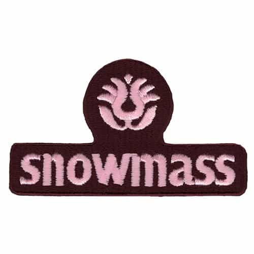 Snowmass Ski Area Pink and Maroon Vintage Patch