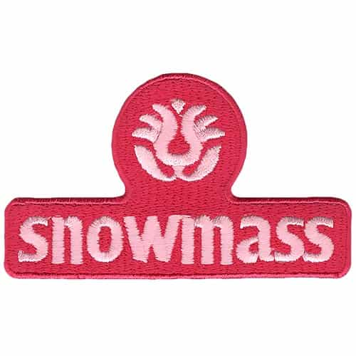 Snowmass CO Ski Area Pink on Pink Embroidered Patch