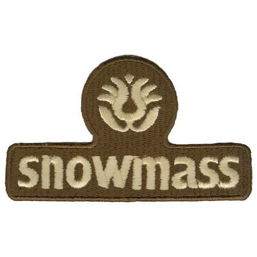 Snowmass CO Ski Area Tan on Brown Vintage Patch