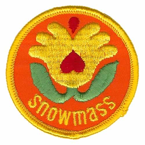 Snowmass Logo Ski Patch Yellow