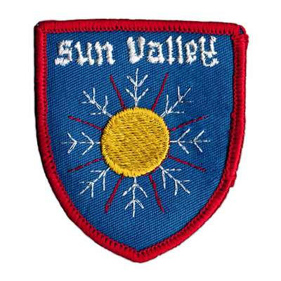 Sun Valley, Idaho Vintage 1970s Ski Resort Patch, 2 1/2 x 3 inches
