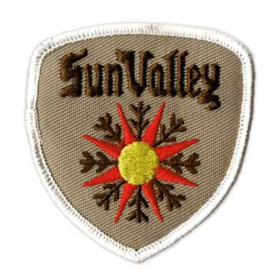 Sun Valley, Idaho Vintage 1970s Ski Resort Patch, 2 3/4 x 3 inches