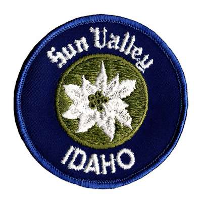 Sun Valley, Idaho Vintage 1970s Ski Resort Patch, 3 inches across