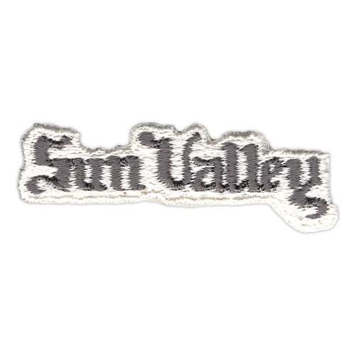 Sun Valley, Idaho Vintage 1970s Gray and White Ski Resort Patch, 3/4 x 2 1/4 inches