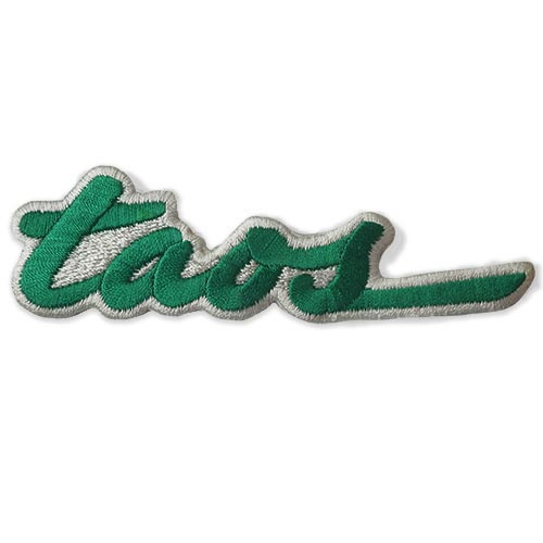 Taos NM Embroidered Ski Patch Green on White