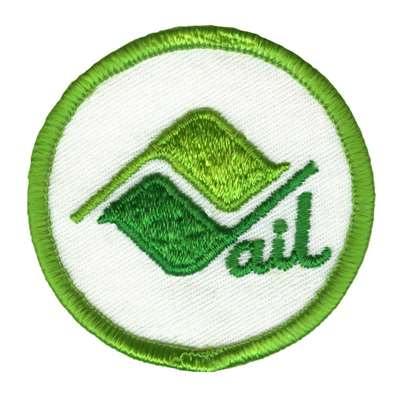 Vail Ski Area Vintage Green Ski Patch