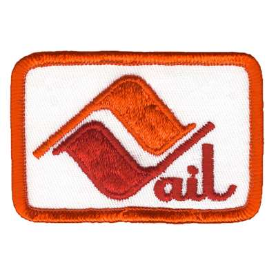Vail Colorado Vintage Ski Area Rectangular Orange Patch