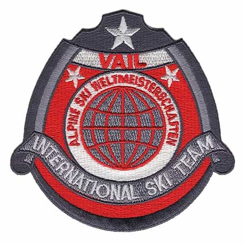 Vail CO 1970's International Ski Team Red Vintage Patch