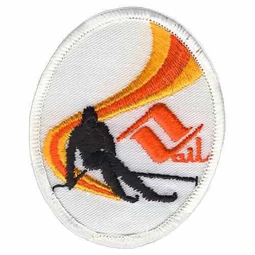 Vail Downhill Skier Vintage Ski Patch