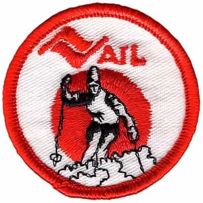 Vail Colorado Vintage Orange Small Round Skier Patch