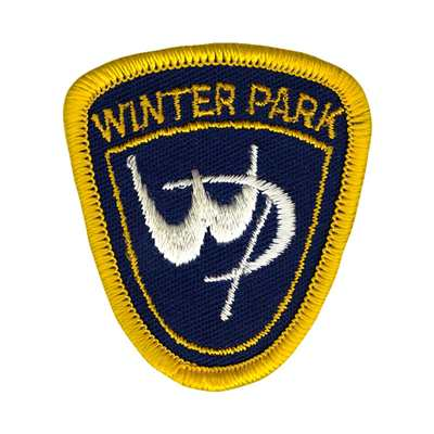 Winter Park Colorado White Logo Embroidered Ski Patch