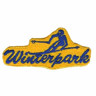 Winter Park Colorado Collector Patch Blue Skier On Yellow