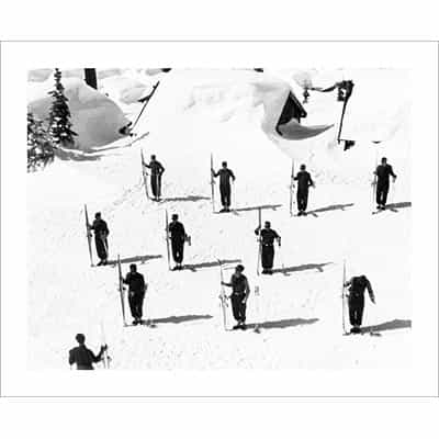 Vintage photo of the 10th Mountain Division Soldiers at Attention (Black & White or Sepia, 2 Sizes: 8 x 10 and 11 x 14 inches)