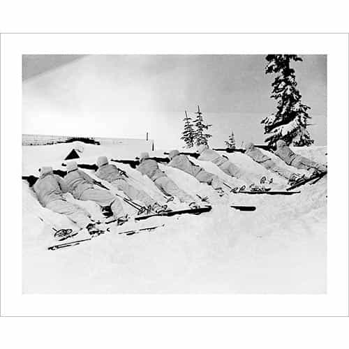 Vintage photo of the 10th Mountain Division Rifle Training at Camp Hale (Black & White or Sepia, 2 Sizes: 8 x 10 and 11 x 14 inches)