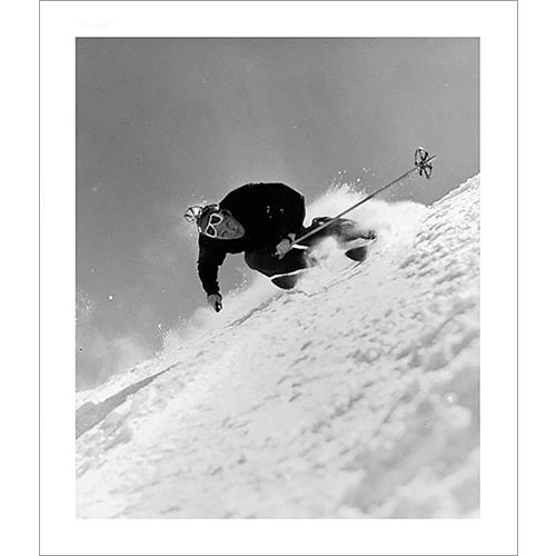 Dick Durrance Skiing  the Fall Line In Sun Valley Photo