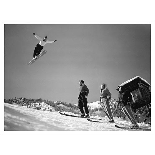 Art Devlin Jumping Over Gary Cooper Photo