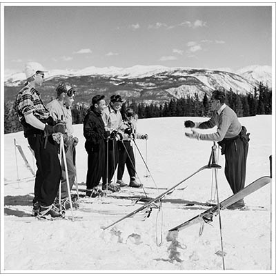 Klaus Obermeyer Teaching Skiing Photo