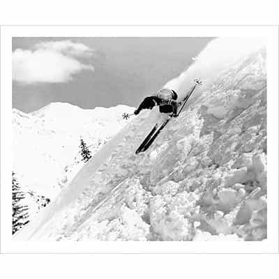 Dick Durrance Skiing Alta Steeps 1941 Photo