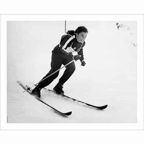 Vintage photo of Olympian Andrea Lawrence Wins Two Gold Medals in 1952 (Black & White or Sepia, 2 Sizes: 8 x 10 and 11 x 14 inches)