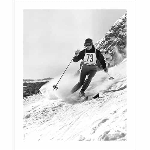 Vintage photo of Olympian Andy Lawrence in Cortina Italy 1956 (Black & White or Sepia, 2 Sizes: 8 x 10 and 11 x 14 inches)