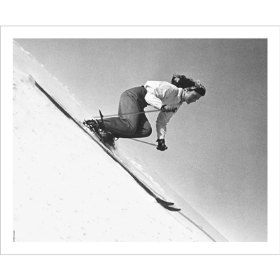 Vintage photo of Olympian Andrea Mead Named 'Top Woman Ski Speedster' (Black & White or Sepia, 3 Sizes: 8 x 10,  11 x 14 & 16 x 20 inches)