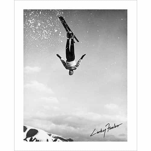 Vintage photo of Corey 'Corky' Fowler Front Flip (Black & White or Sepia, 2 Sizes: 8 x 10 and 11 x 14 inches)