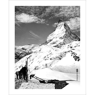 Vintage photo of Matterhorn Skiers in Zermatt (Black & White or Sepia, 2 Sizes: 8 x 10 and 11 x 14 inches)