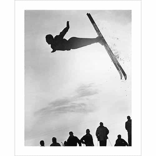Vintage photo of Stein Eriksen Famous Flip (Black & White or Sepia, 2 Sizes: 8 x 10 and 11 x 14 inches)