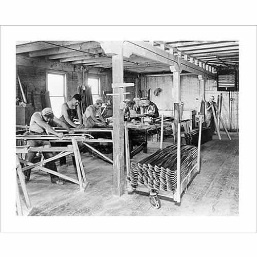 Vintage photo of Strand Ski Factory Making Skis in the 1930s (Black & White or Sepia, 2 Sizes: 8 x 10 and 11 x 14 inches)