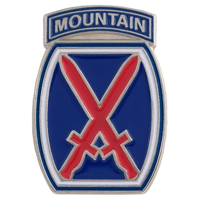10th Mountain Division Logo Hat and Backpack Pin
