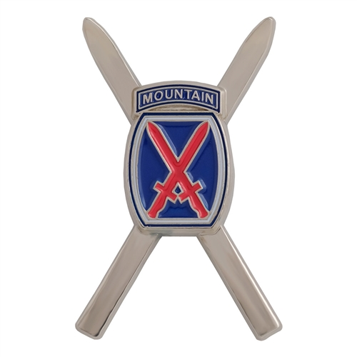 10th Mountain Division Cross Skis Logo Hat and Backpack Pin