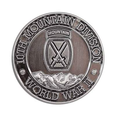 10th Mountain Division World War II Hat and Backpack Pin