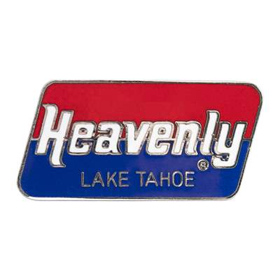 Heavenly Mountain Resort Vintage 1970s Ski Area Pin, 3/4 x 1 1/2 inches