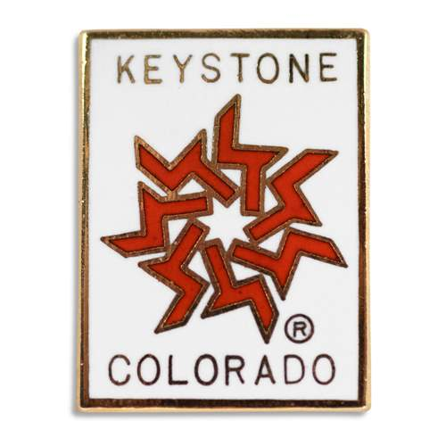 Keystone Colorado Logo Classic 1970s Ski Pin, 1 x 3/4 inches