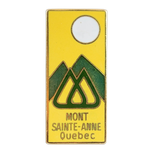 Mont Sainte-Anne, Quebec Vintage 1970s Ski Area Pin, 3/4 x 1 1/2 inches