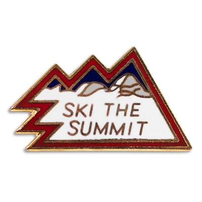 Summit County Classic 1970s Ski Pin, 1 x 3/4 inches