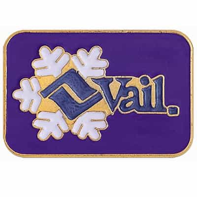 Vail Ski Area Vintage Pin Purple