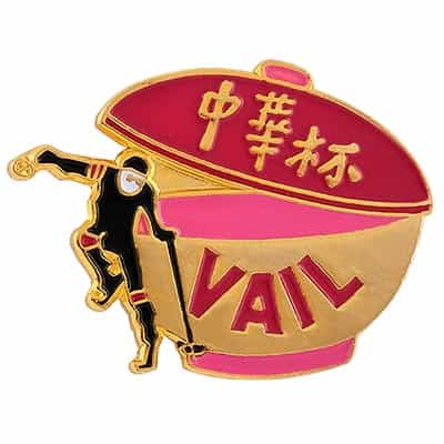 Vail Ski Area Vintage Pin Blue