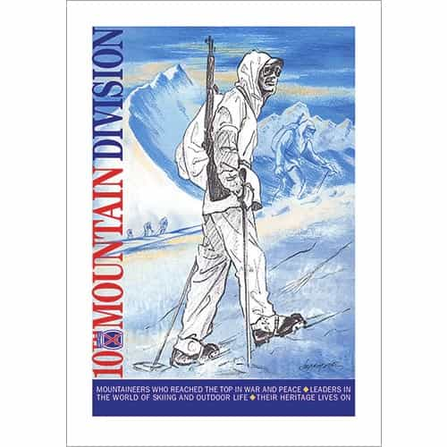 Soldier In Italy, 10th Mtn Div Poster, Quality Giclee Print (3 Sizes)
