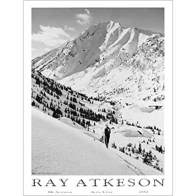 Alta and Mount Superior, Ray Atkeson Ski Poster