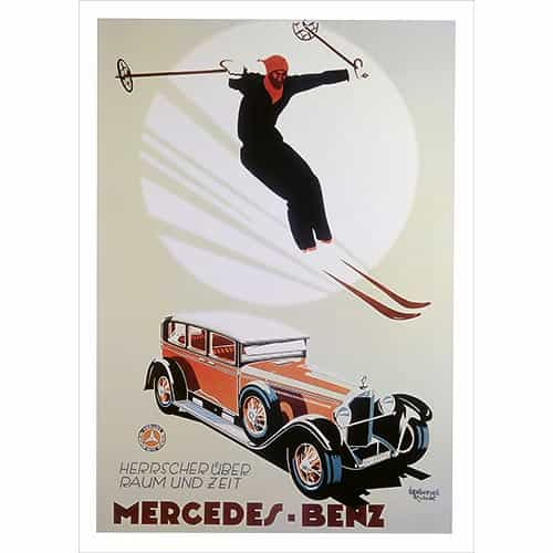 Mercedes Benz Poster with Skier (2 Sizes)