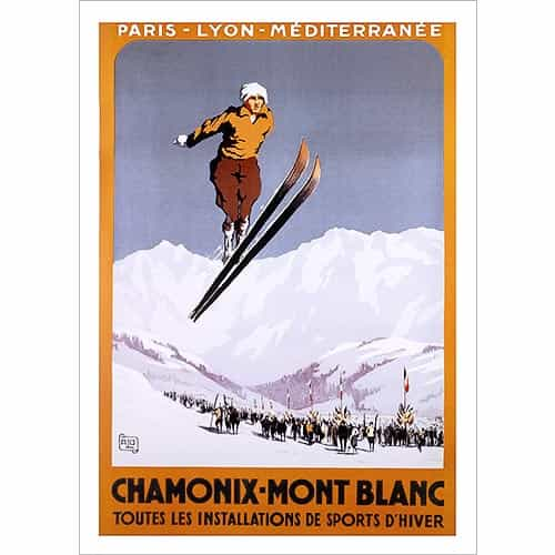 Chamonix Ski Poster - 1924 Olympics Jumper (2 Sizes)