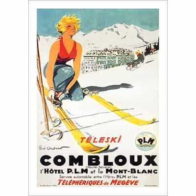 Combloux Teleski Poster - Blond (2 Sizes)