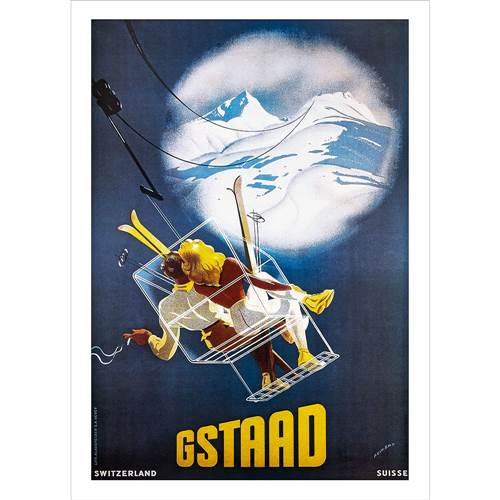Gstaad Ski Poster