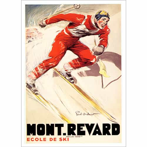 Mont Revard Ski Poster (2 Sizes)