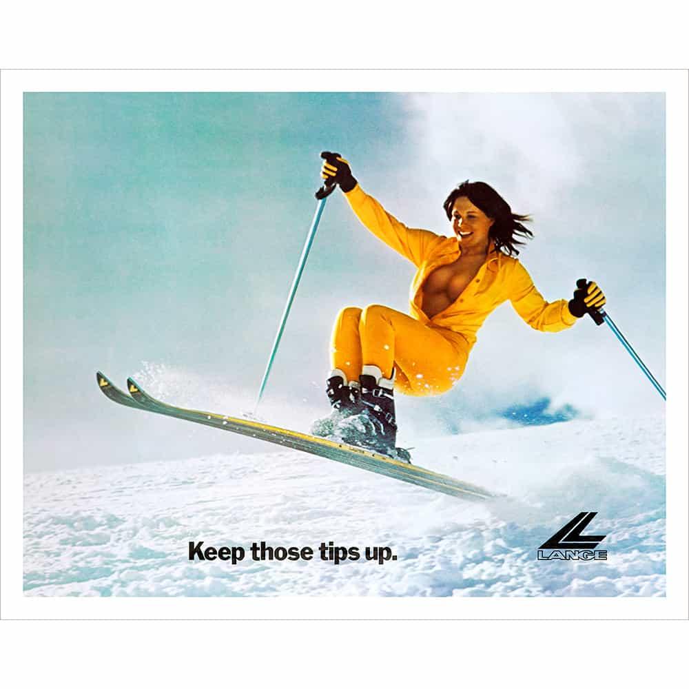 Lange Classic Tips Up Vintage Ski Poster