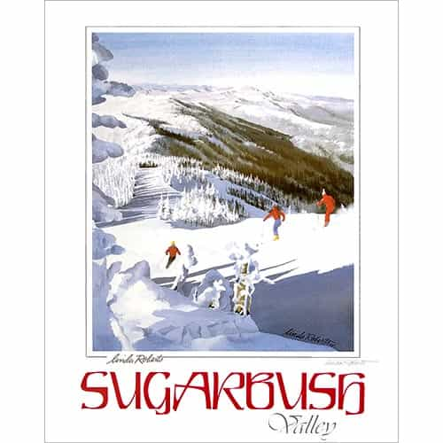 Sugarbush Valley, VT Poster By Linda Roberts