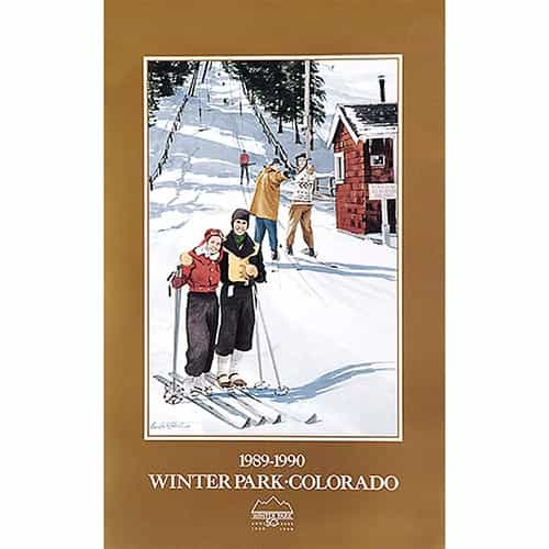 Winter Parks 50th Anniversary Ski Poster By Linda Roberts