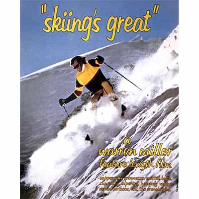 Warren Miller Skiing is Great Ski Poster