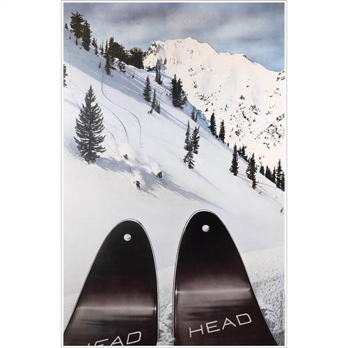Head Skis at Alta Ski Poster